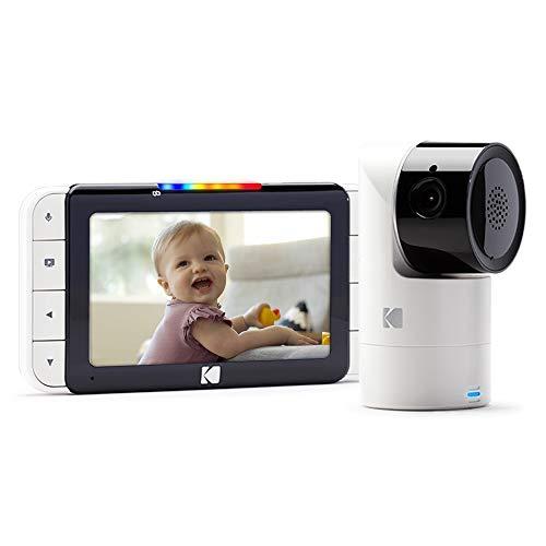 Baby monitor video KODAK CHERISH C525 app mobile - Telecamera WiFi Pan/Tilt/Zoom ad alta risoluzione, display HD da 5, audio bidirezionale, visione notturna, portata a lungo raggio