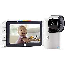 KODAK CHERISH C525 — Cámara Vigilabebe de alta definición con WiFi y App móvil, monitor de 5 pulgadas, Pan/Tilt/Zoom, visión nocturna infrarrojos y conversación bidireccional