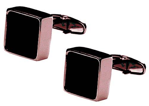 Rose Or/Black Mindy Onyx Centre boutons de manchette de denisonboston