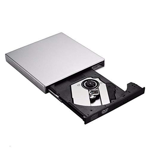 DUOER home Tragbare CD-Player USB 2.0 Tragbarer, extrem schlanker, externer DVD-RW-CD-RW-CD-ROM-Player mit Laufwerkschreiber Rewriter Burner für PC
