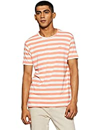 Indigo Nation Men's Striped Slim Fit T-Shirt