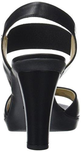 Geox D721VA00085, Sandali con Tacco Donna Nero (BLACKC9999)