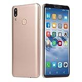 Smartphone, Colorful 6.1''Ultrathin Android 7.1 Quad-Core 1G RAM+ 4G ROM (Eingebaute 16G-Speicherkarte) Dual SIM Dual Kamera IPS Full Screen GSM/WCDMA-Touchscreen WiFi Bluetooth GPS 3G Handy,Gold