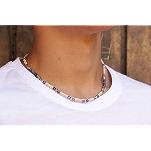 Geschenk für Freund Blau Surfer Halskette für Männer Edelstein Handgemacht Schmuck Halskette für Frauen Geschenk für Freundin