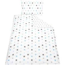 Kinder Bettwäsche 100x135 Wendebettwäsche 2 tlg. Set Babybettwäsche 100% Baumwolle Bettgarnitur