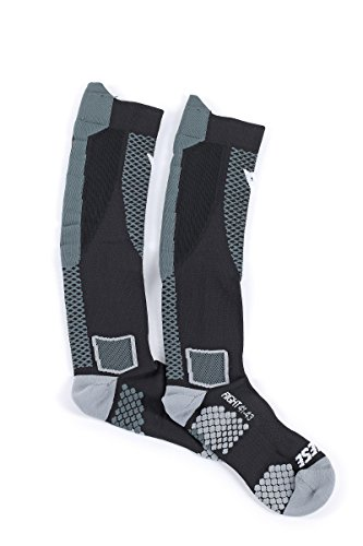 Dainese D-Core High Sock, Mehrfarbig (Schwarz/Anthrazit), M (40-42)