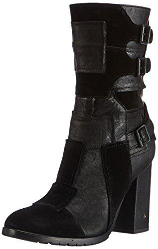 Fornarina - Alek, Stivali da motociclista Donna Nero (Schwarz (black / 0000))