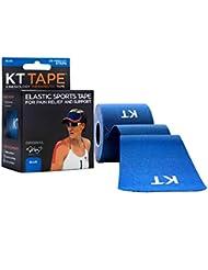 KT cinta original para kinesiología precortado 20tira de algodón, Unisex, color azul, tamaño n/a