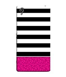 PrintVisa Striped Texture 3D Hard Polycarbonate Designer Back Case Cover for Sony Xperia Z5 :: Sony Xperia Z5 Dual 23MP