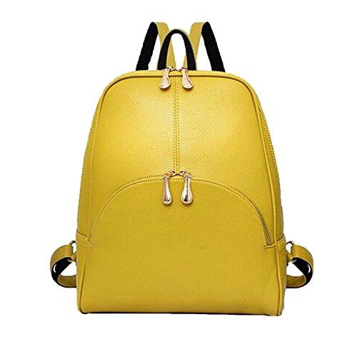 Zaino Multicolore Del Sacchetto Di Spalla Di Viaggio Di Modo Della Zaino Di Cuoio Delle Signore Delle Donne Delle Signore Delle Donne Yellow