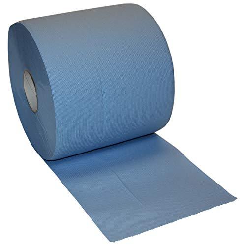 4000 Blatt Putztuchrolle Papier Putztuch Papiertuch Putzpapier Rolle blau 2 lagig Putzrolle extrem nassfest