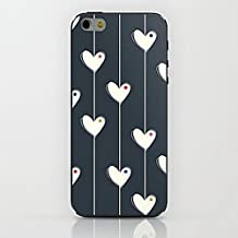 """Inonler El amor y el corazón. funda para iPhone 6S(4,7""""), para iPhone 6, Funda Negro"""