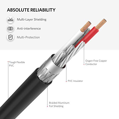 41F5SDV3KKL. SS500  - UGREEN RCA 3.5mm Adapter Cable 2 Phono Female to Male Aux Mini Jack Stereo Headphone Audio Lead Compatible With iPhone…