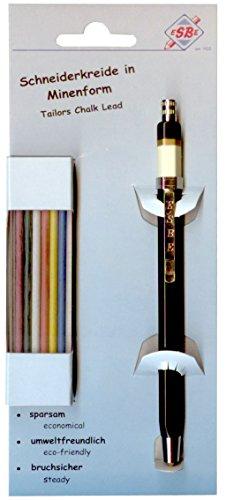 Steidl & Becker 307-11SB Kreideminenset mit Halter und 12 farbig sortierten Minen -