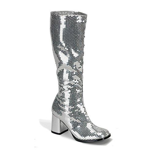 Pailetten Boot silber Silber