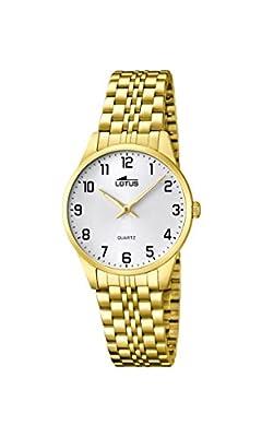 Lotus 15886/1 - Reloj de cuarzo para mujer, con correa de acero inoxidable, color dorado de Lotus