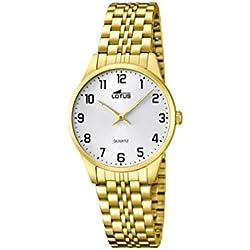 Lotus 15886/1 - Reloj de cuarzo para mujer, con correa de acero inoxidable, color dorado