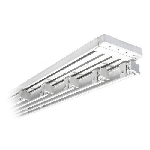 VICTORIA M Binario Per Tende A Pannello In Alluminio 272 Cm A 5 Vie Per 5  Pannelli, Bianco