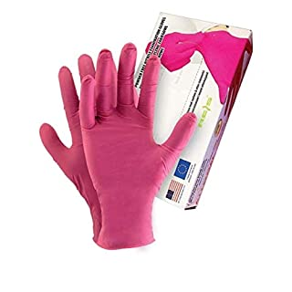 Pink Allogena R Collagen and Silicone Gloves Mounting Gloves Protective Nitrile Powder Free Gloves M