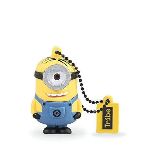 (Tribe Minions Stuart USB Stick 8 GB Speicherstick 2.0 High Speed Pendrive Memory Stick Flash Drive, Lustige Geschenke 3D Figur, USB Gadget mit Schlüsselanhänger)