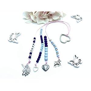 Rechenkette Mädchen, Zählkette hellblau lila, Rechenkette Name, Einschulung Geschenk, 1. Schultag Geschenk Mädchen