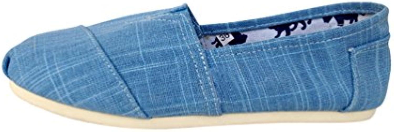 Dooxi Unisex Erwachsene Freizeit Einfarbig Loafers Comfort Espadrilles Mode Slip on Flach Freizeitschuhe