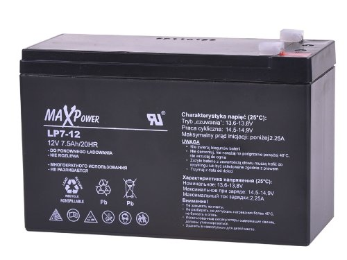 MaxPower Bat0402 12 V 7Ah Agm batterie ricaricabili in Gel per moto e Scooter, per carrello da Golf