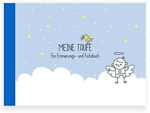Taufbuch Junge (Taufalbum/ Erinnerungsbuch/ Eintragealbum, Recycling-Papier, Taufgeschenk)