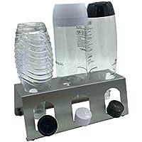 Abtropfhalter 3.1 aus Edelstahl für z.B. Sodastream Crystal/Source / Fuse/Easy / Cool / 0,6l Emil Flaschen Flaschenhalter Abtropfgestell