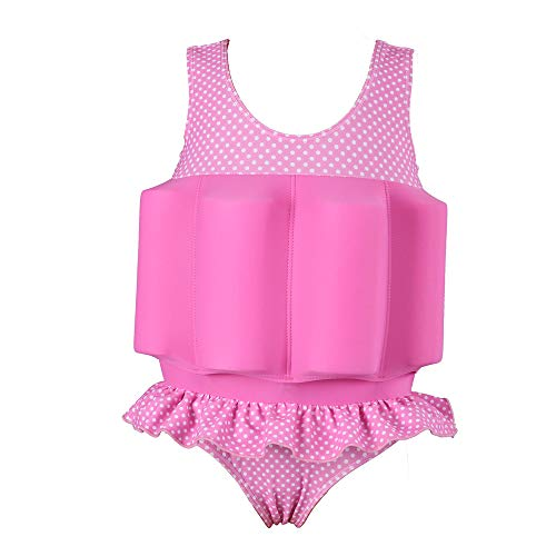 Giyaway Kinder Badeanzug mit Schwimmhilfe, Sonnenschutz Float Suit für Baby