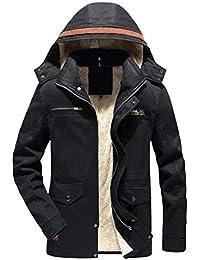 Luckycat Herren Winter Warme Jacke Mantel Outwear Slim Lange Trenchknöpfe  Reißverschluss Mantel ... 310bc64af7