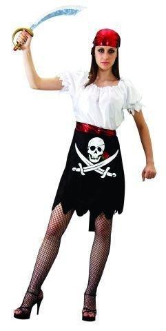 Damen Fasching Piratin Rock Frauen Karneval Größe M-L ()