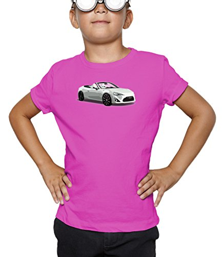 Billion Group | Japan Concept | Fast And Furious Motor Cars | Boys Classic Crew Neck T-Shirt Pink X-Large