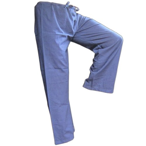 PANASIAM Stoffhose Hose, blau, M -