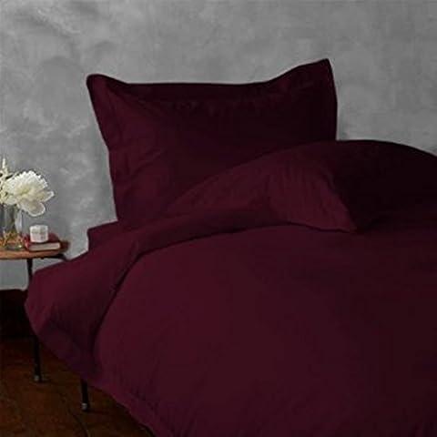 Almohada -4PC Italiano de 600hilos acabado Vino Color Sólido Almohada de cuerpo entero Tamaño (32