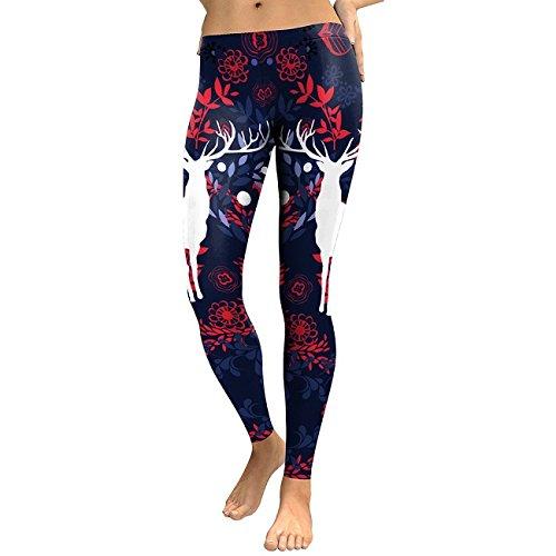 DioKlen Leggings para mujer, diseño de flor de mandala, estampado digital 3D, leggins de fitness, elásticos, pantalones [KDK1761 XL]