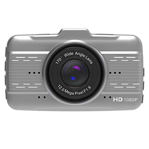 Iwähle ) 4-Zoll-LCD-IPS-Doppelobjektiv-Auto-Armaturenbrett-1080P-Armaturenbrett-Kamera 170 ° -Laufwerk DVR (Silber) - Ge-dvr
