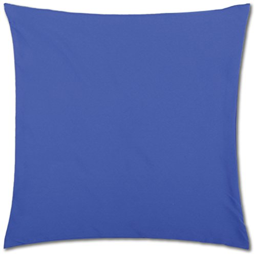 Kissenhülle ( 100 Größen und Farben ) mit und ohne Füllkissen, Serie: Ellen, Kissenbezug Dekokissen, Auswahl: 30x30cm ohne Füllung blau - royalblau