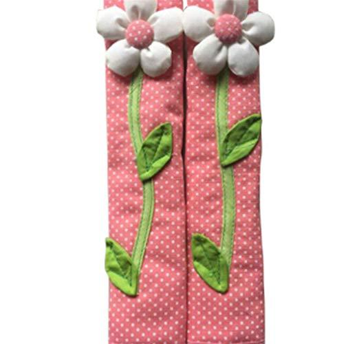 Premium Qualität 2 STÜCKE Pastoralen Blume Polka Dot Kühlschrank Griff Abdeckung Kühlschrank Türgriff Handschuhe Wohnkultur Küchenzubehör rosa -