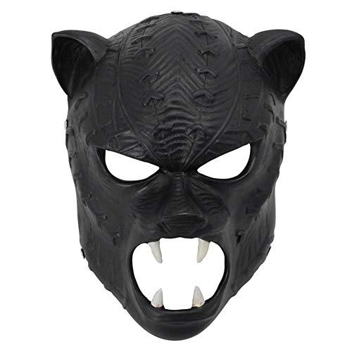 TTXLY Halloween Maske Helm Harz Maske Marvel Film Black Panther Maske Vollgesichtsmasken verkleiden Sich Persönlichkeit Requisiten Masken
