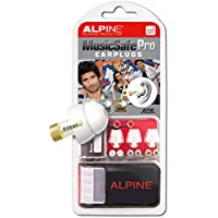 Alpine MusicSafe Pro Ear Plugs - Designed for musicians - Three interchangeable filter sets - Comfortable hypoallergenic material - Reusable earplugs - White