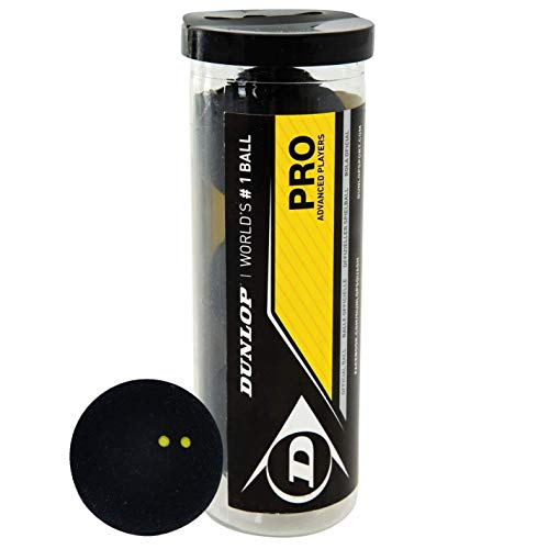 Dunlop PRO Squashbälle – Tube mit 3 Stück