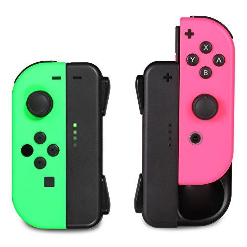 [2 Piezas] KINGTOP Cargador para Mando de Nintendo Switch Recargable E