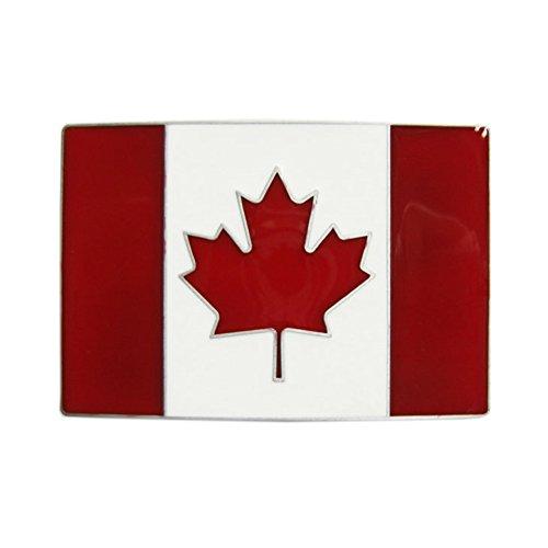Urban Backwoods Canada Flag Gürtelschnalle für Wechselgürtel Buckle