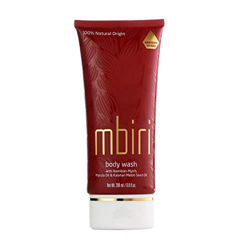 Mbiri Duschgel, 100% Naturkosmetik Body Wash mit Marula Öl, Myrrhe und Kalahari Melonen Öl, vegan (1x200 ml) -