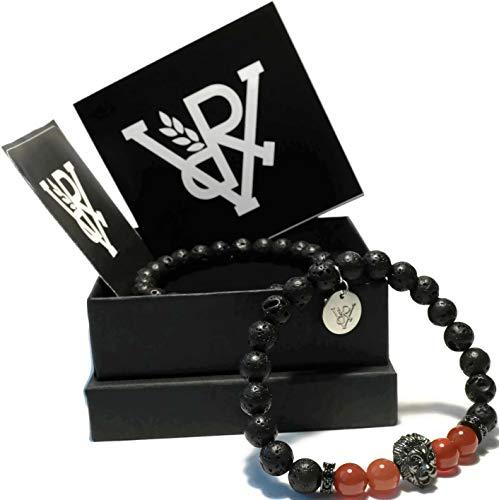 Lavastein Armband Set (schwarz, rot, weiss) ()