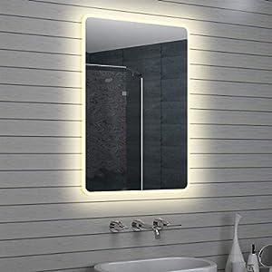 Lux-aqua Design LED Badezimmerspiegel Lichtspiegel Wandspiegel Spiegel 100x70cm