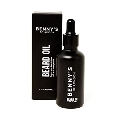 BEARD OIL - From Benny's of London - Men's GIFT idea – Keeping Beards HEALTHY and SOFT - warming SANDLEWOOD SCENT perfect for BEARDS all shapes & sizes - ALL NATURAL INGREDIENTS keeping that beard looking good!