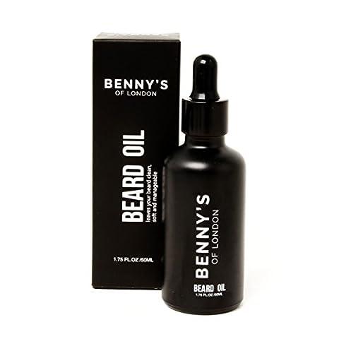 Bart Öl–von Benny 's of London–Natürliche Hochwertige Zutaten mit Sandelholz Duft. Bart Conditioning Öl spendet Feuchtigkeit und erweicht die Haut und Gesichtsbehaarung und hilft erhöhen Bart Wachstum (LSF15)