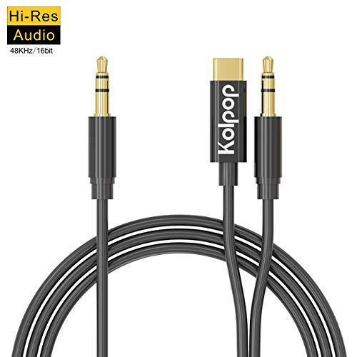 large choix de couleurs différents types de dernière collection USB C Jack, Kolpop 2 en 1 Adaptateur USB C Jack Type C 3.5mm mâle Aux Câble  Casque Audio Stéréo Voiture avec DAC Hi-res Chipset pour iPad Pro 2018, ...